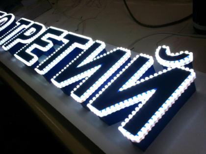 светодиодная вывеска изготовление